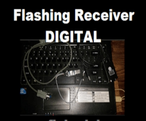 Cara Flashing Receiver Digital