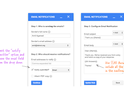 Google Forms Tools to Help Teachers Automatically Send Email Notifications When Students Submit Forms