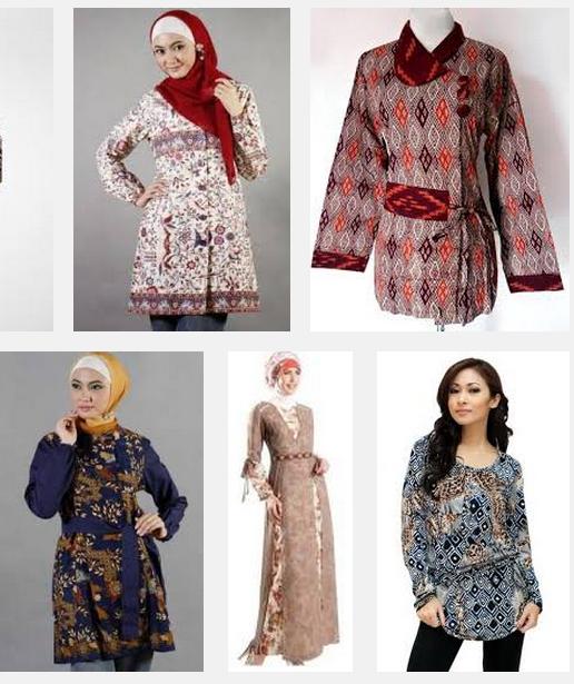 Model Baju Batik Wanita 2015: ModelBaju24: Model Baju Batik Wanita Muslim Modern 2015