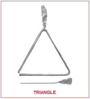 Gambar Alat Musik Ritmis Triangle
