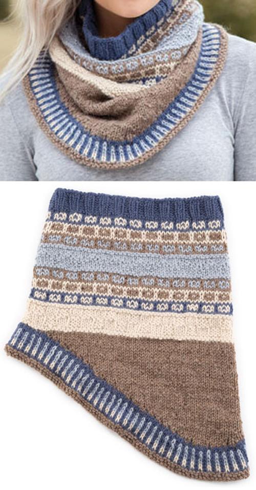 Fair Isle Gansey Cowl - Knitting Pattern