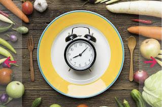 الصيام المتقطع من 16 الى 14 ساعه فترة الصوم و فترة الاكل من 8 الى 10 ساعات حسب مدة الصيام