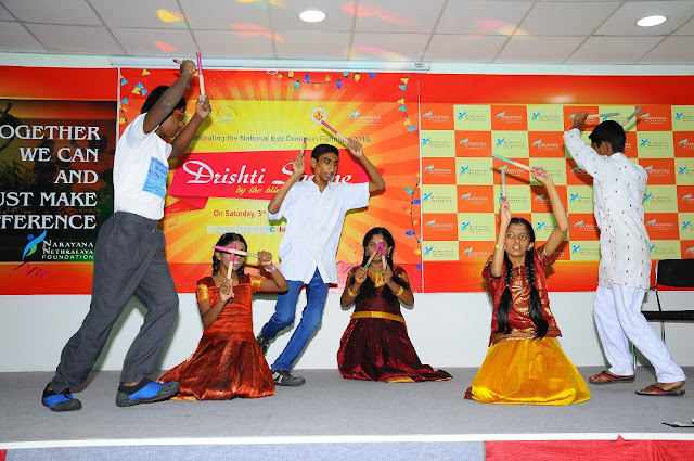 Vishally Challenged children performing