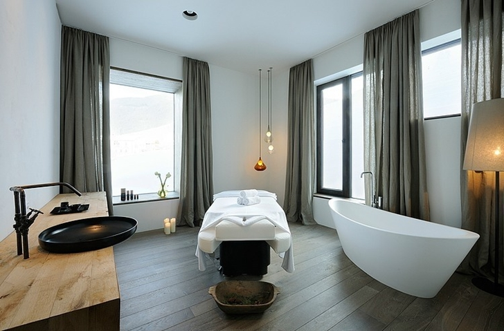 Contemporary bathroom in Boutique Hotel, Austria