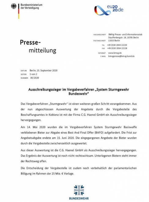 німецька армія змнюює зброю
