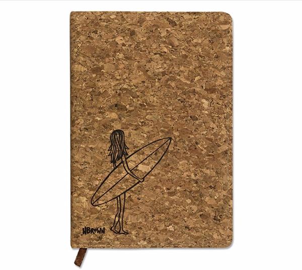 heather brown modern surf art work journal gift