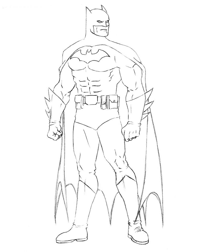Como Desenhar O Batman Passo A Passo Desenhos