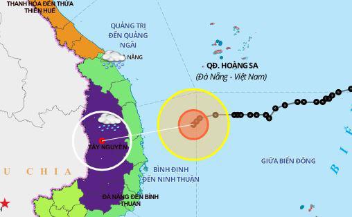 Bão số 10 yếu thành áp thấp, miền Trung có nơi mưa trên 250mm