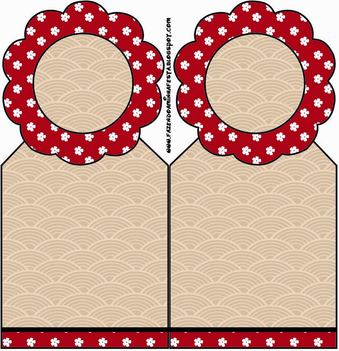 Marcapaginas para Imprimir Gratis de Fiesta Estilo Japonés.