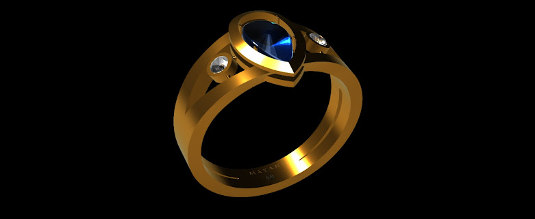 Design of a 3d printable wedding ring by Mechanical Nib