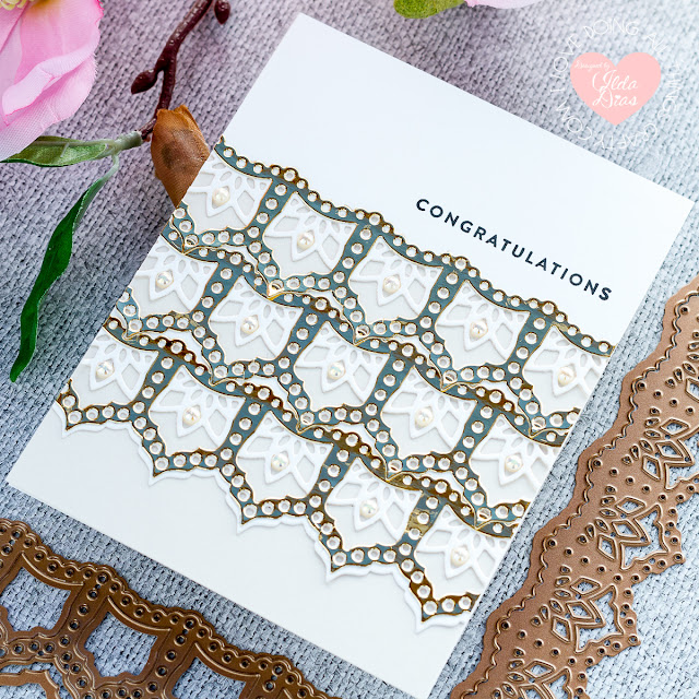 Elegant Kaleidoscope Strips and Borders Card Set   December 2019 Large Die of the Month   Spellbinders by ilovedoingallthingscrafty.com