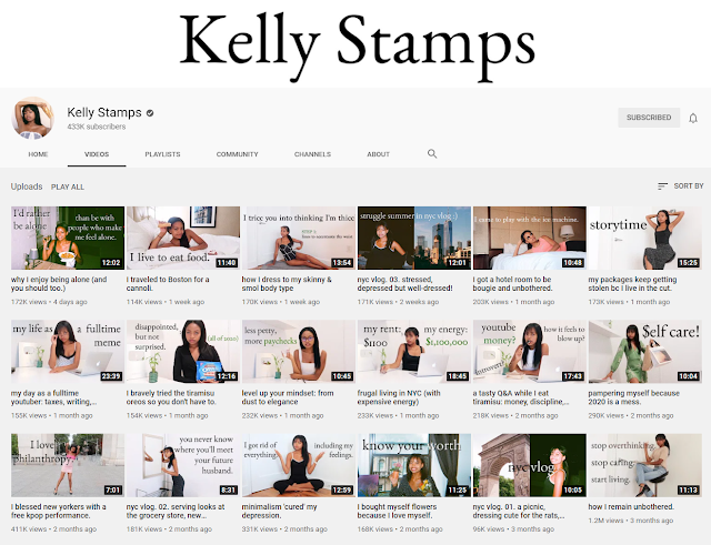 Kelly Stamps - successful Youtube channel