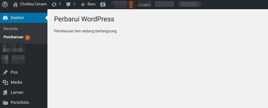 """Cara Memperbaiki Galat """"Another update in process"""" Pada WordPress"""