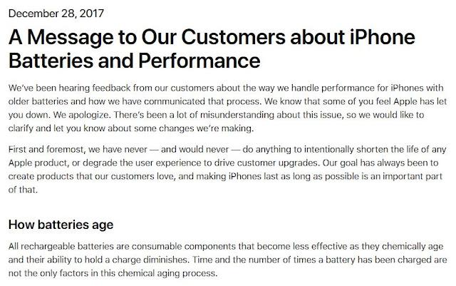 klarifikasi pihak apple terkait lambatnya ios 11.2.0