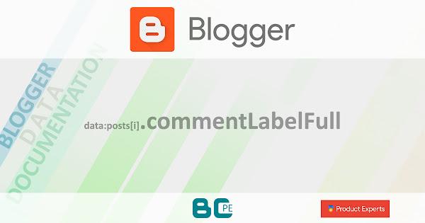 Blogger - Gadget Blog - data:posts[i].commentLabelFull