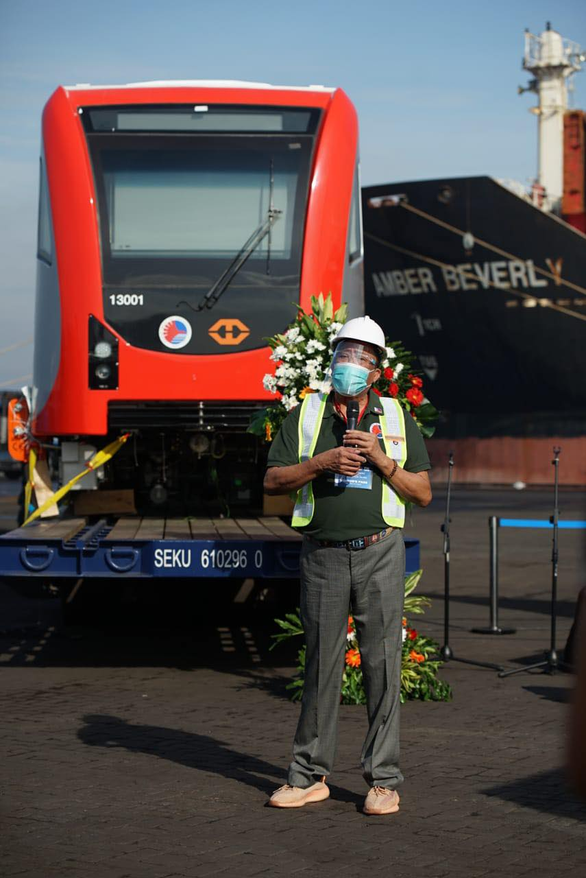 FIRST BATCH OF TRAIN CARS FOR THE LRT-1 CAVITE EXTENSION ARE NOW IN THE PHILIPPINES