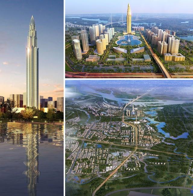 Tháp tài chính Phương Trạch toàn cảnh - Tower cao 108 tầng tại Vĩnh Ngọc Đông Anh