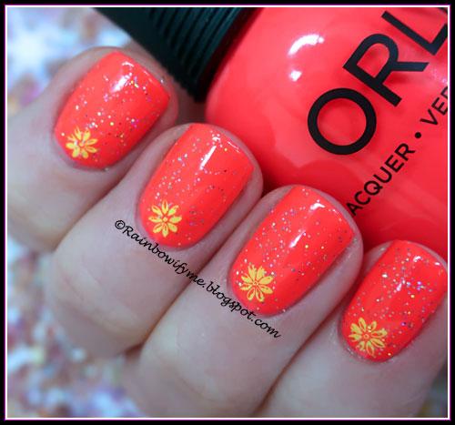 Orly: Blazing Sunset with Orly: Shine On Crazy Diamond
