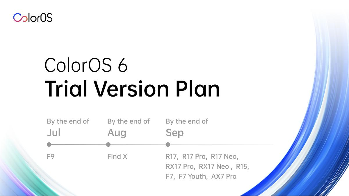 Official plan of ColorOS 6 beta for other OPPO smartphones