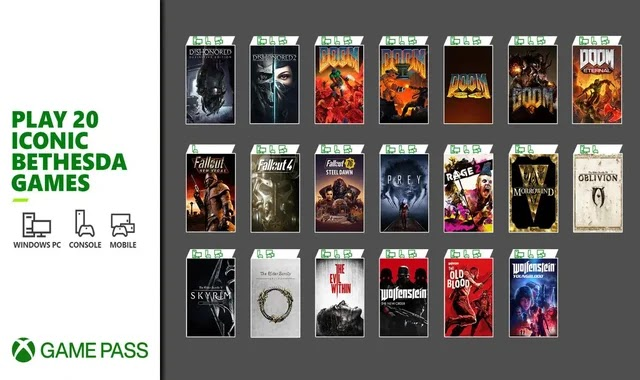 Xbox Game Pass gets 20 Bethesda games