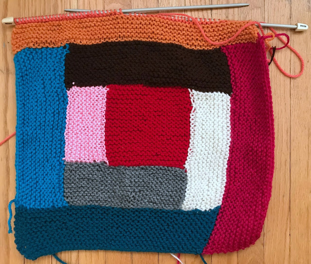 log cabin blanket knit