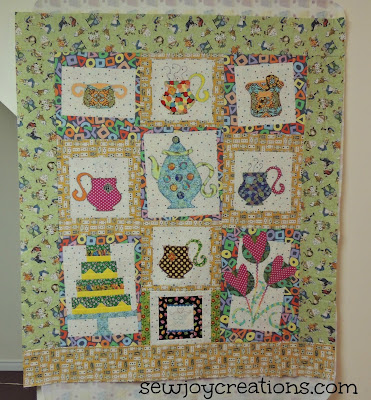 quilt top tea party wonky blocks pat sloan