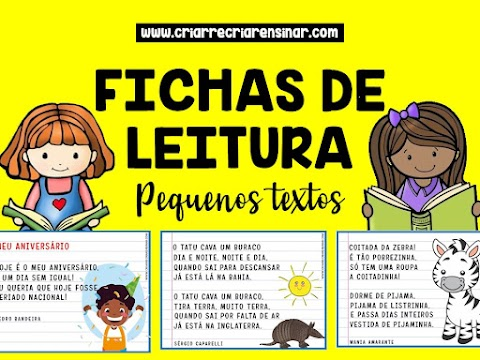 FICHAS DE LEITURA: PEQUENOS TEXTOS