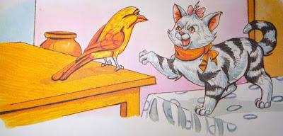 बिल्ली व बुलबुल For Class 5th Hindi Moral Stories