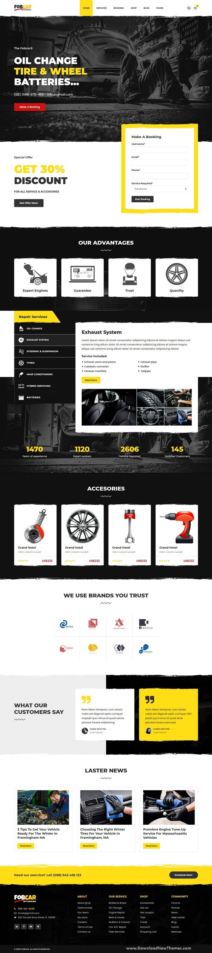 Car Service HTML Template