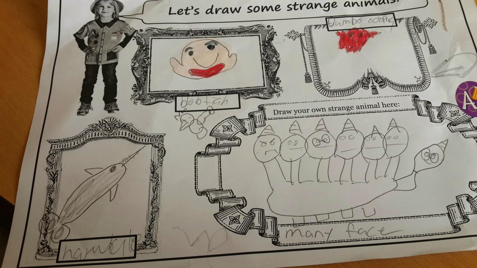 Strange Animals Esl Class Free Ppt And Worksheet Mrs