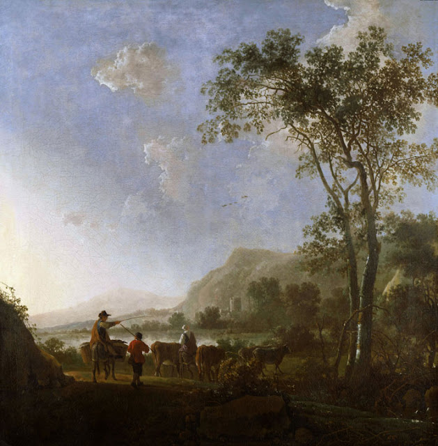 Альберт Кёйп - Пейзаж с пастухами. 1660