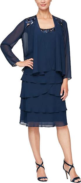 Best Navy Blue Mother of The Bride Dresses