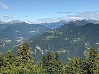 View north from Canto Alto - Bergamo.