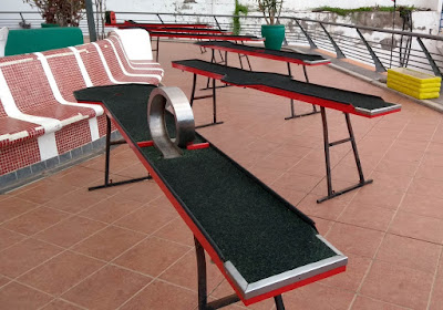 Billiard Golf tables in Puerto Colón, Tenerife by Philip Walsh