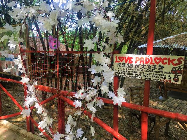 Bamboo Forest Cebu. Love Padlock.
