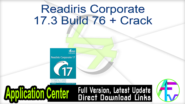 Readiris Pro 16.0.2 Build 11397 + Crack