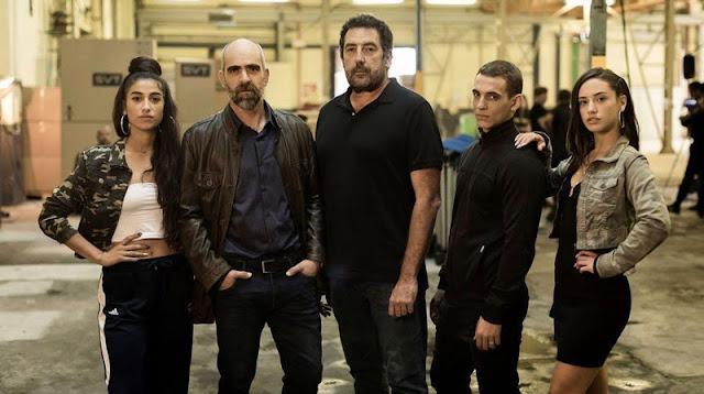 Daniel Calparsoro, Miguel Herrán, Luis Tosar, Carolina Yuste, Asia Ortega en 'Hasta el cielo'