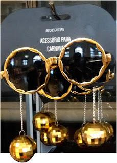 Óculos Escuros para carnaval com Brinco de globo pendente