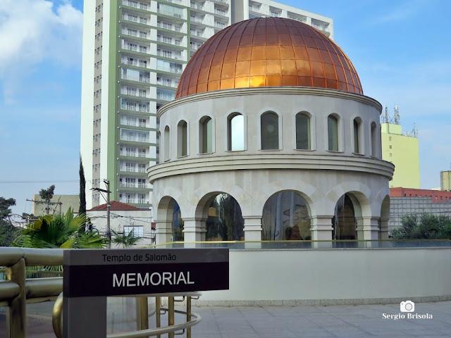 Vista ampla do Memorial do Templo de Salomão - Brás - São Paulo