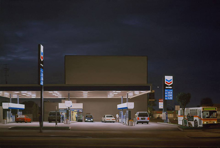 Gas Stations In California >> Paintings of North American Urban Landscapes and Interiors ...