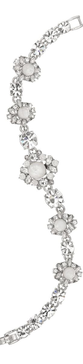 Marchesa Embellished Tennis Bracelet White/Silver