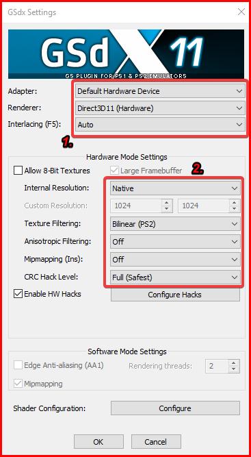 hardware and plugin settings