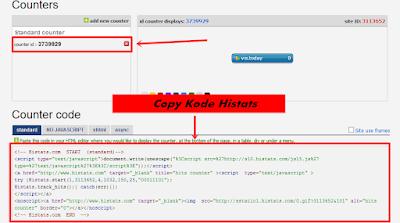 kode counter histats