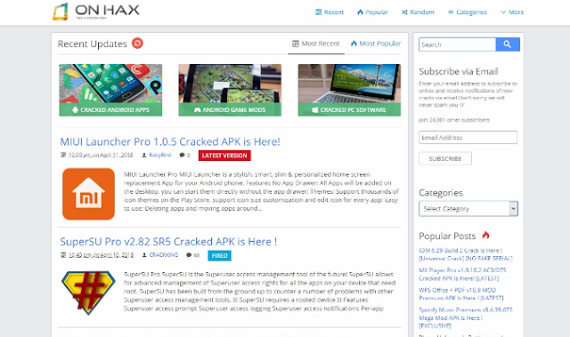 Situs Terbaik Untuk Download Aplikasi Premium - OnHAX