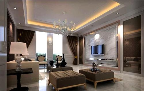 desain ruang tamu minimalis dengan gaya yang mewah rumahku