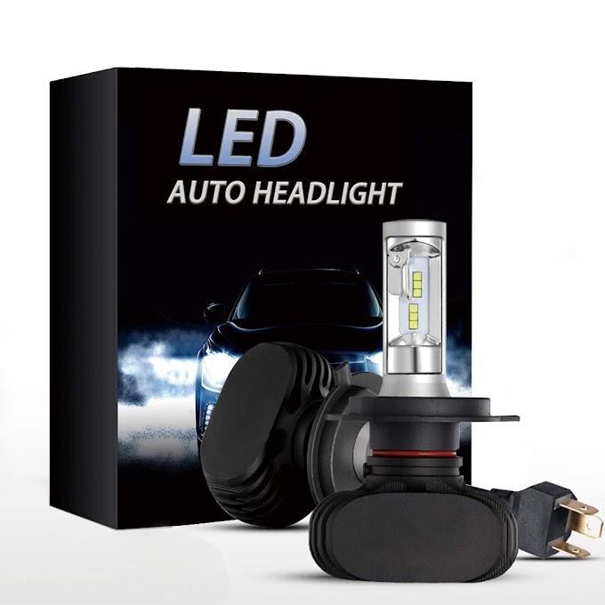 AMAZON - 55% off  Denoes H4 LED Headlight bulbs CSP Conversion kits 8000LM Xenon White Hi/Low Beam Headlamp Bulbs (2-Pack)