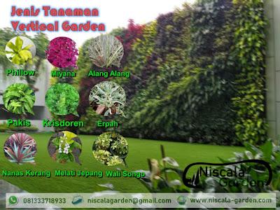 Jenis Tanaman Vertical Garden