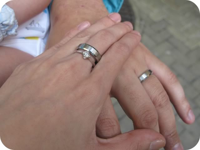 Not Sure Where Hubby Got My Engagement Ring But As For Our Wedding Bands It S From Imono Steel Jewelry