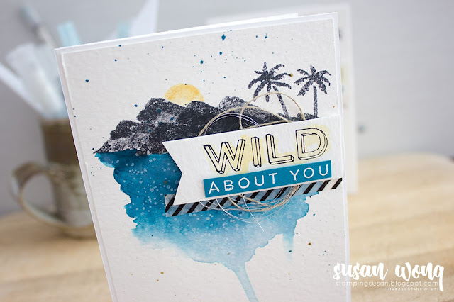 'His' with Waterfront + Pieces and Pattern stamp sets - Susan Wong for the Let's Get Hopping Blog Hop