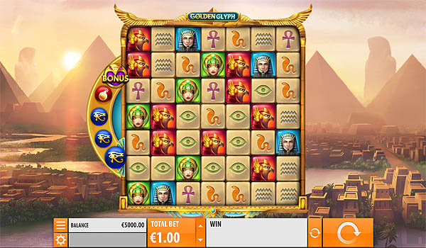 Main Slot Gratis Indonesia - Golden Glyph (Quickspin)